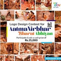 Design logo for Aatma Nirbhar Bharat to win a cash prize