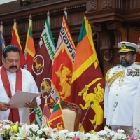 Mahinda Rajapaksa was sworn in as prime minister for Sri lanks