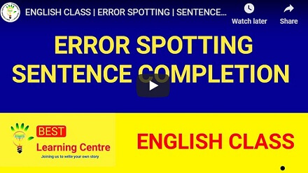 online coaching for banking english error spotting and sentence completion
