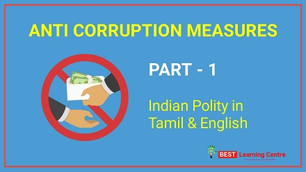 police exam online coaching for political science anti corruption measures