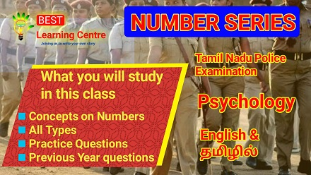police exam online coaching for psychology number series